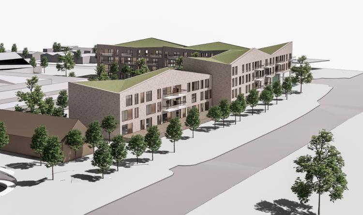 Plan for omdannelse af bevaringsværdigt rådhus i Farum på plads