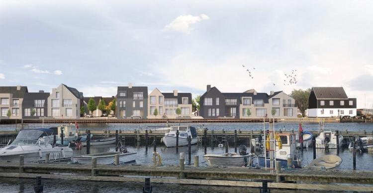 Selskab har 75 byhuse på havnen i Kerteminde på tegnebrættet