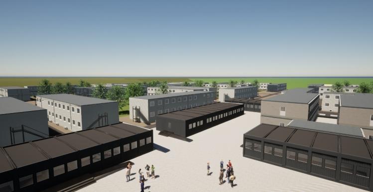 Adapteo leverer 30.000 kvm pavillonbygninger til Femern Bælts håndværkerby
