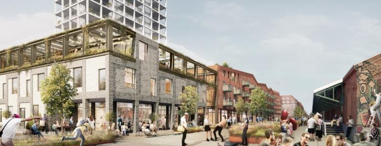 Nye byhuse og 46 lejligheder midt i Aarhus