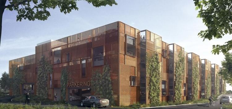 Første etape af parkeringshus i Egedal By bygges nu