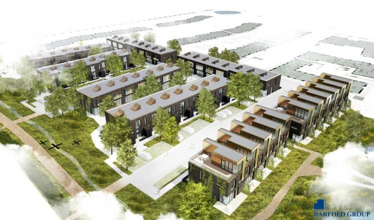 Barfoed Group bygger rækkehuse for 180 millioner