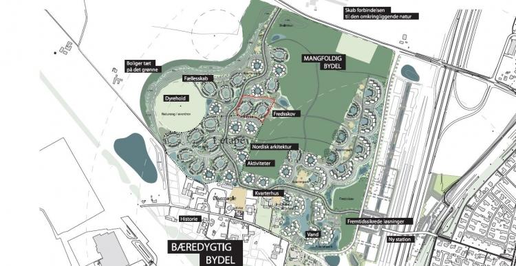Grunde til 40 almene boliger udbydes i Køges nye bydel