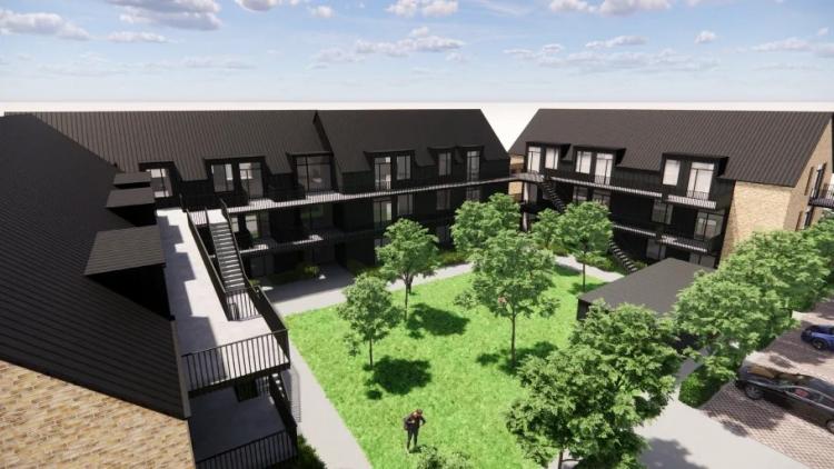 Projekt med 54 boliger på kanten af Mariager Fjord