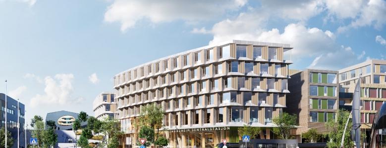 Arkitema tegner norsk togstation med bærende konstruktion af...