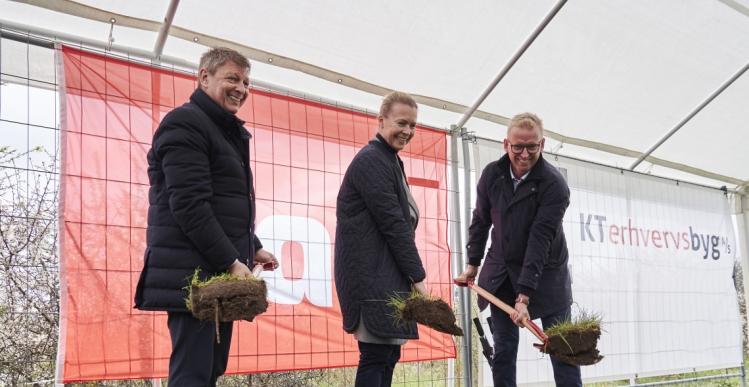 KT Erhvervsbyg bygger 6.200 kvm logistikcenter i Fredericia